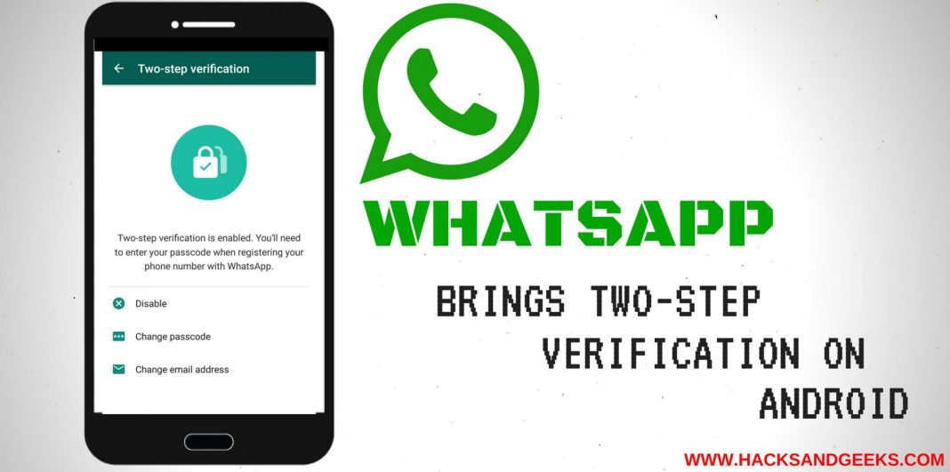 Whats app two step verification