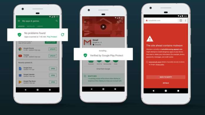 Google Play protect features