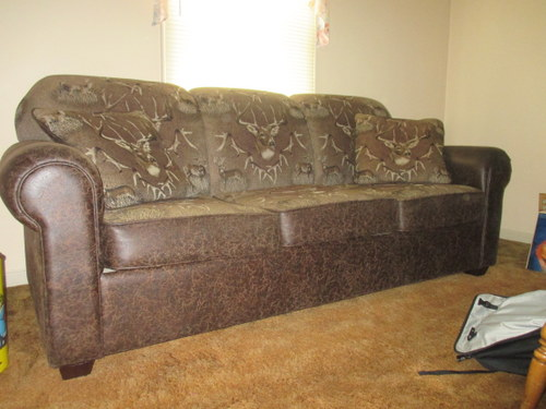 White Tailed Deer Leather Sofa For Sale Online Auctions