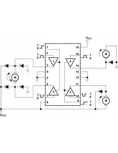 L293DNE Push-Pull Four-Channel Stepper Motor Driver IC DIP-16