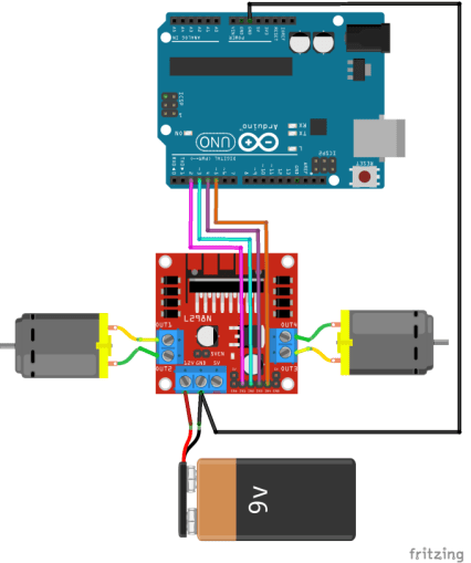 How to use the L298N Motor Driver - Arduino Project Hub