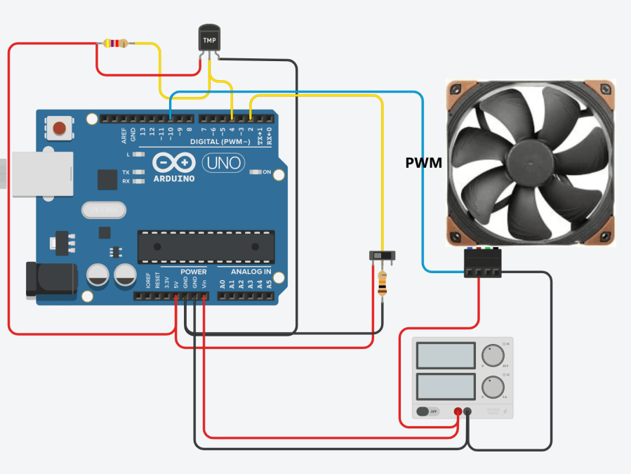 pwn fan controller with temp sensing