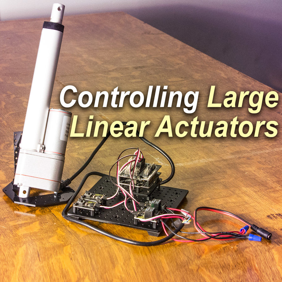hight resolution of control a large linear actuator with arduino