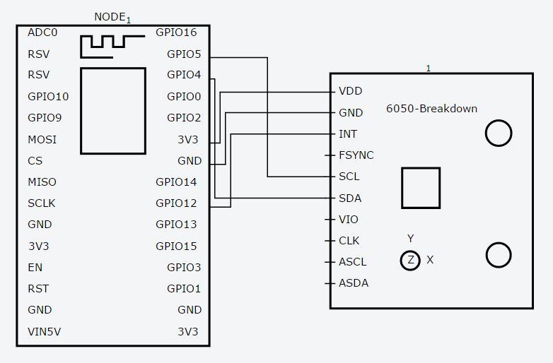gy 521 arduino wiring