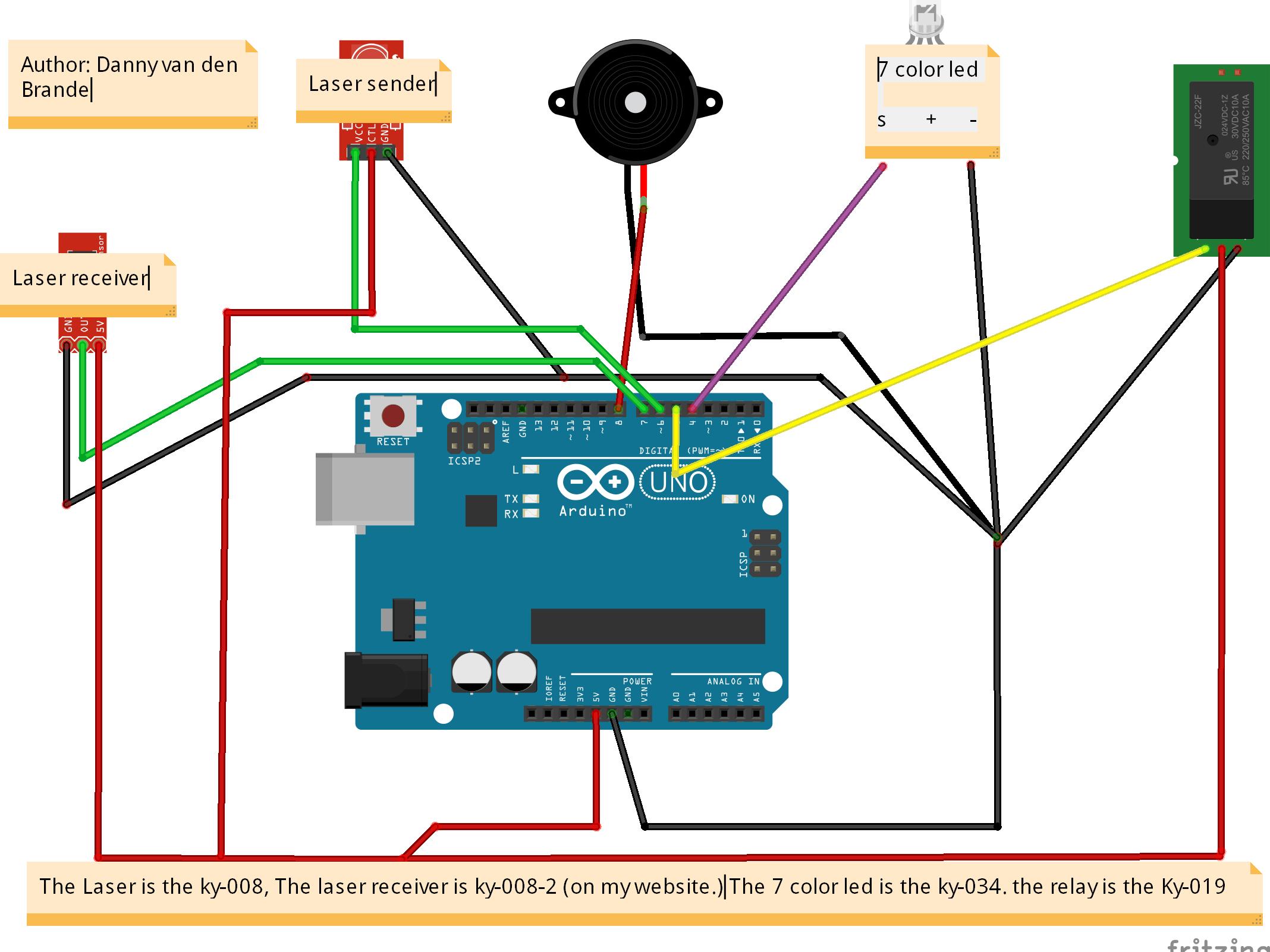 small resolution of cheap diy laser alarm multi functional arduino project hub tripwire alarm diagram