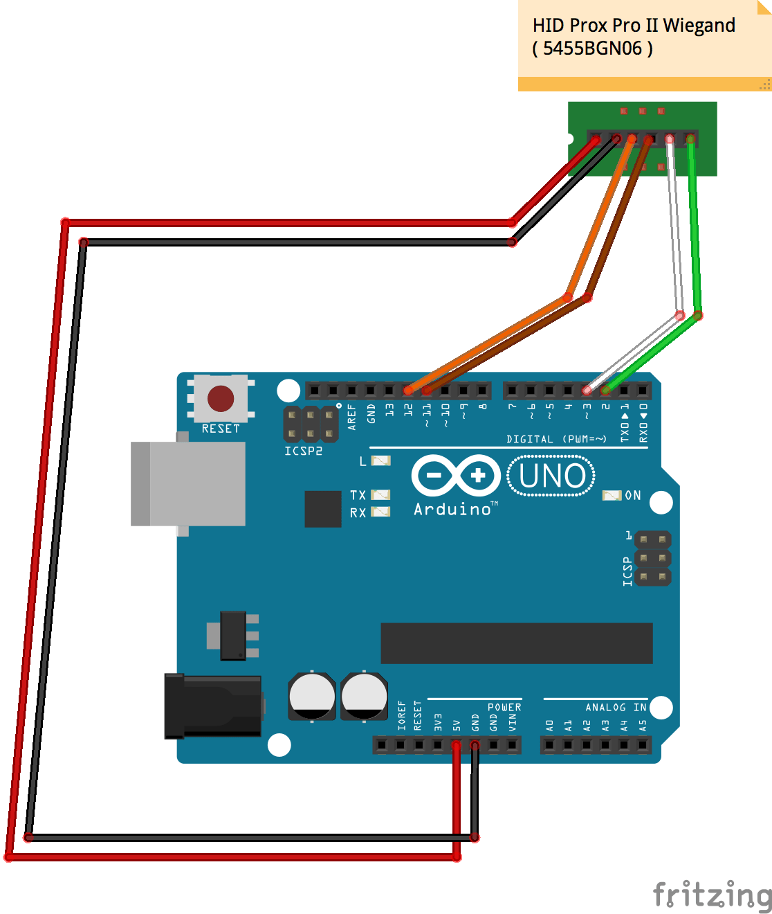 hid miniprox reader wiring diagram harbor breeze fan diagrams prox rfid to arduino hackster io