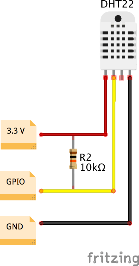 data cable wiring diagram 3 way switch multiple lights raspberry pi 2 iot thingspeak dht22 sensor hackster io