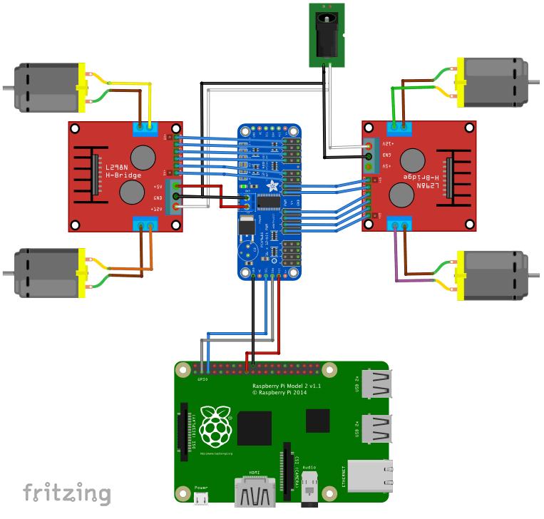 l298 h bridge circuit diagram frog brain functions 4 wheel drive dc motor control for raspberry pi hackster io interconnectiondiagram rvm3bnc3la