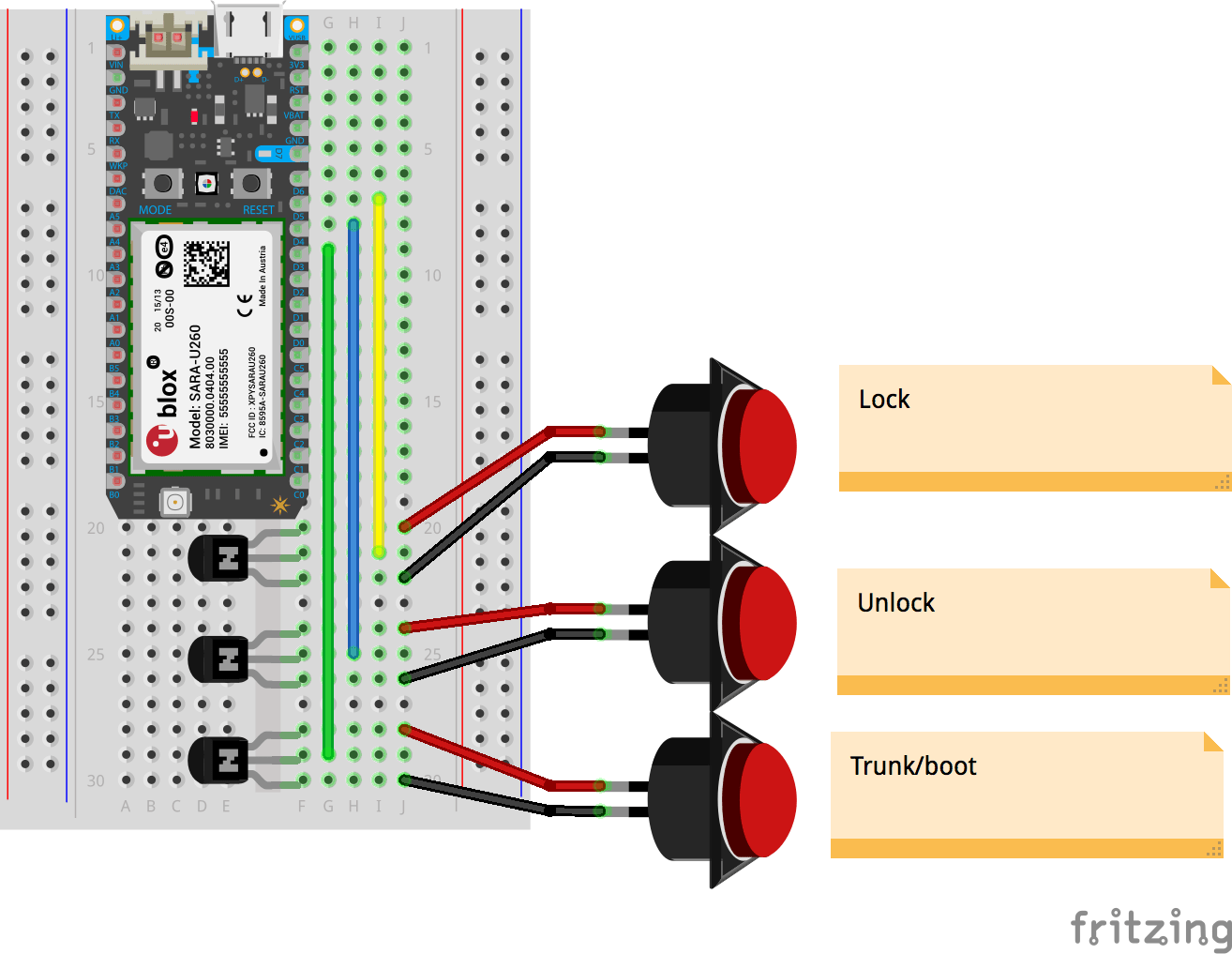 hight resolution of key fob breadboard bb qvor1cbgvm