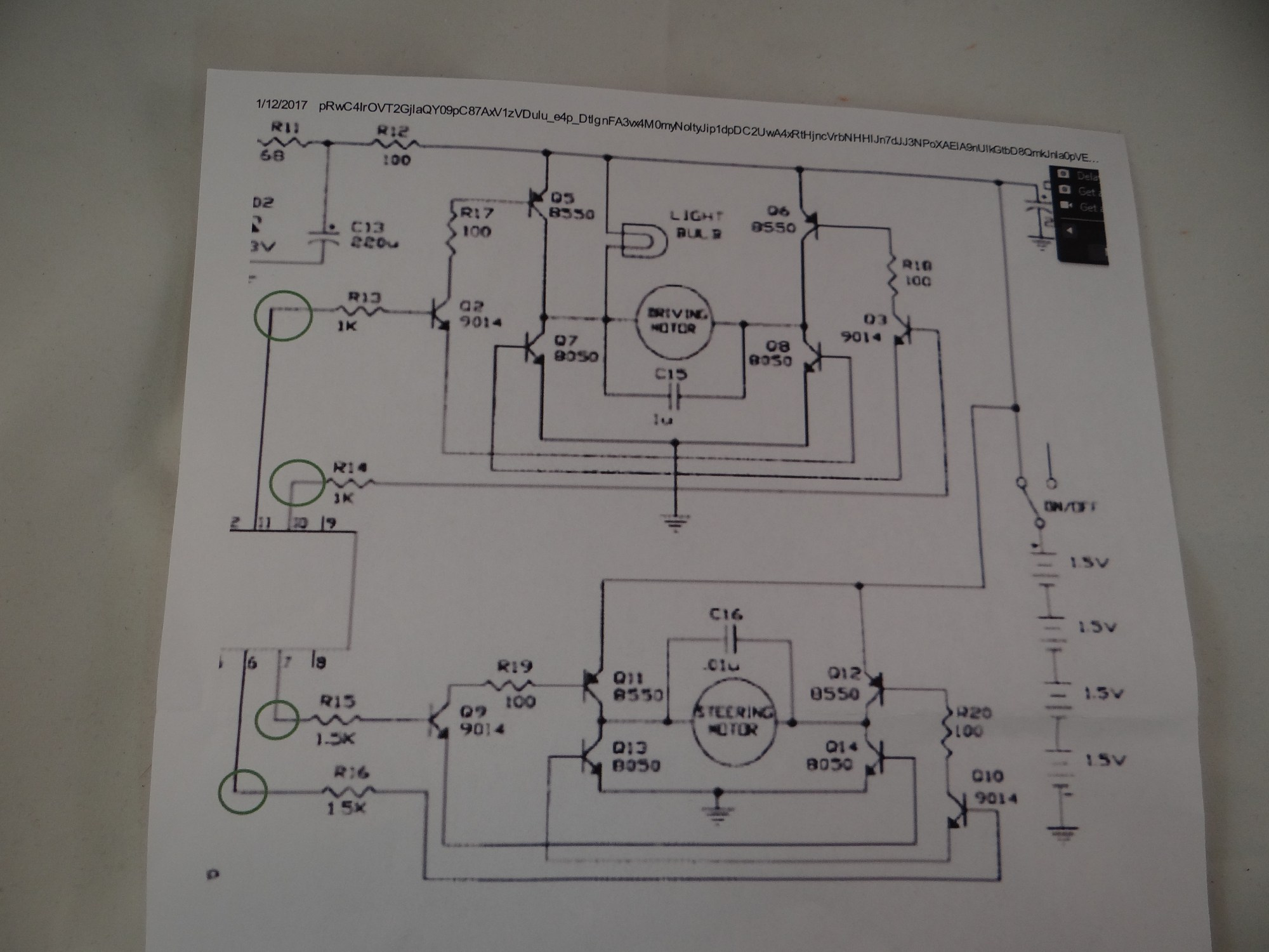 hight resolution of  and r16 from the motor controller board to disconnect the on board remote controller integrated circuit in the next schematic i will show how i took