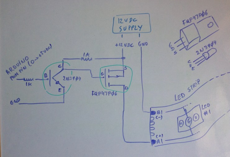 Of How The Control Circuit Should Look Like Rgb Led Strip Circuit