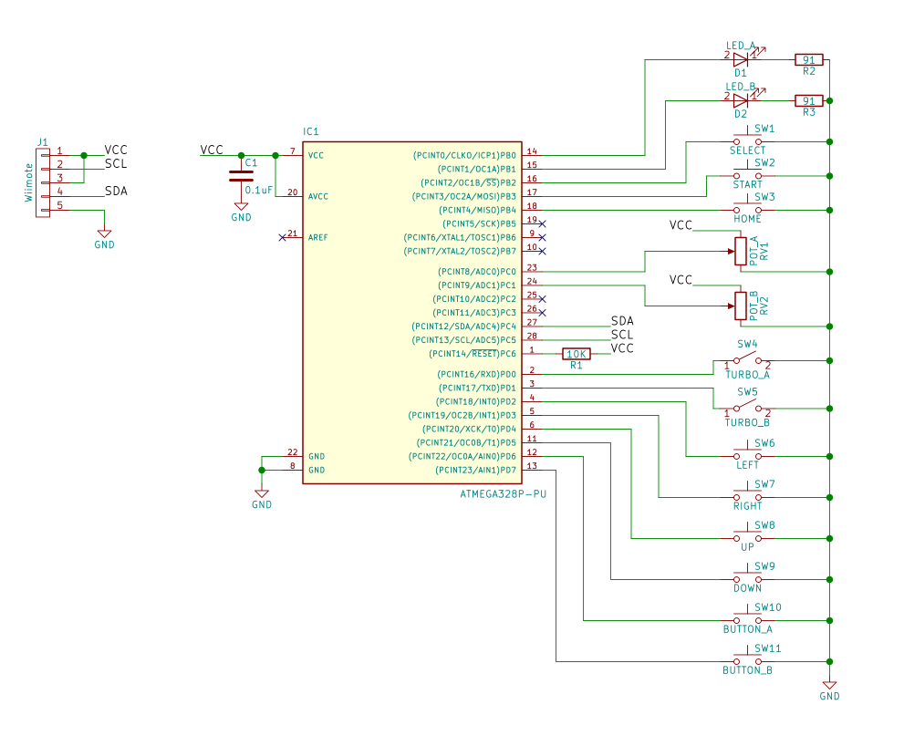 hight resolution of nes classic advantage schematic