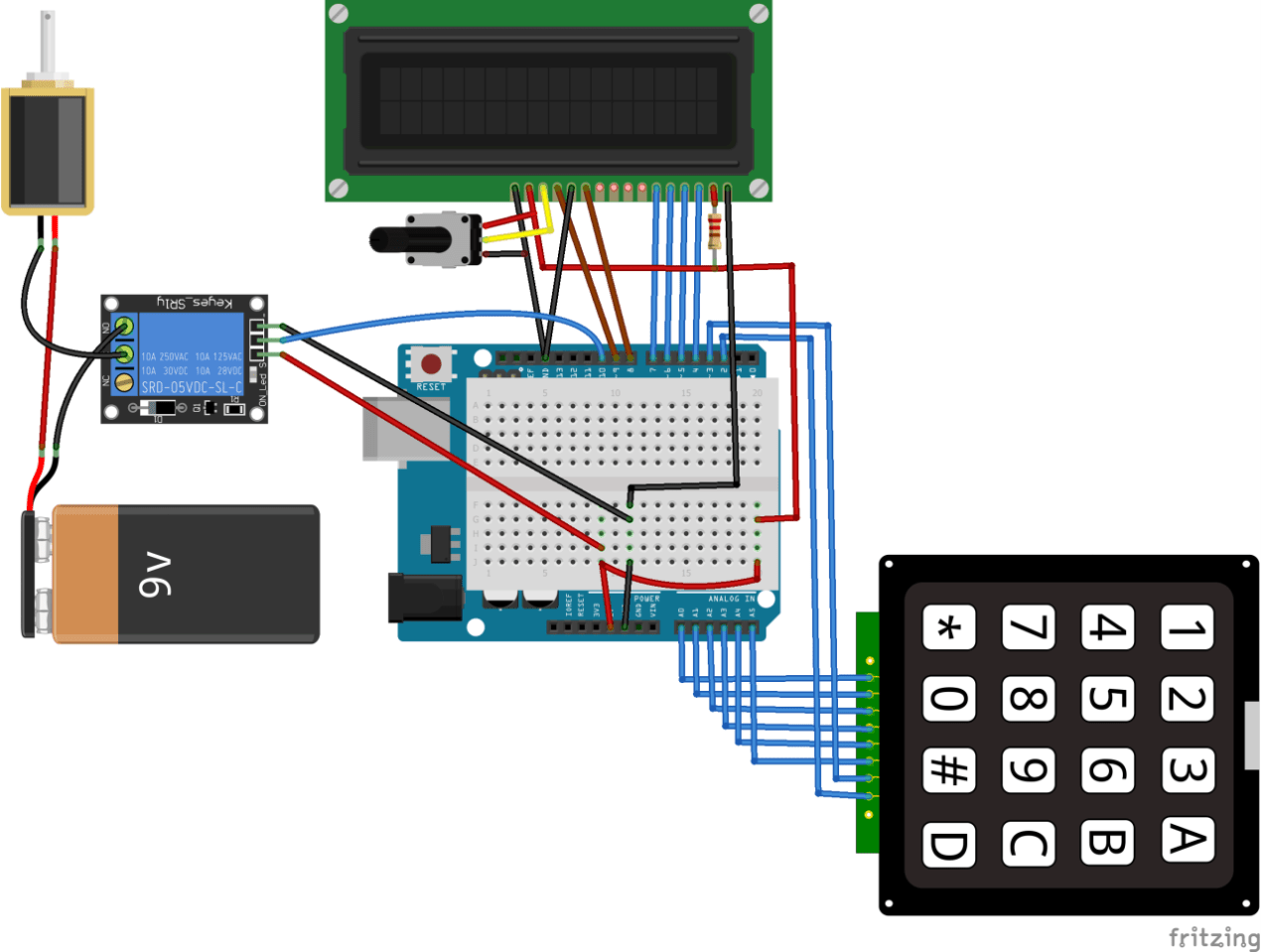 arduino keyless door lock system with keypad and lcd arduino project hub [ 1272 x 960 Pixel ]