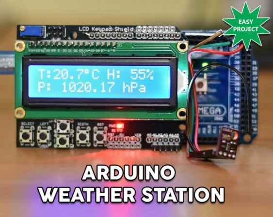 Arduino Easy Weather Station With Bme280 Sensor Hackster Io