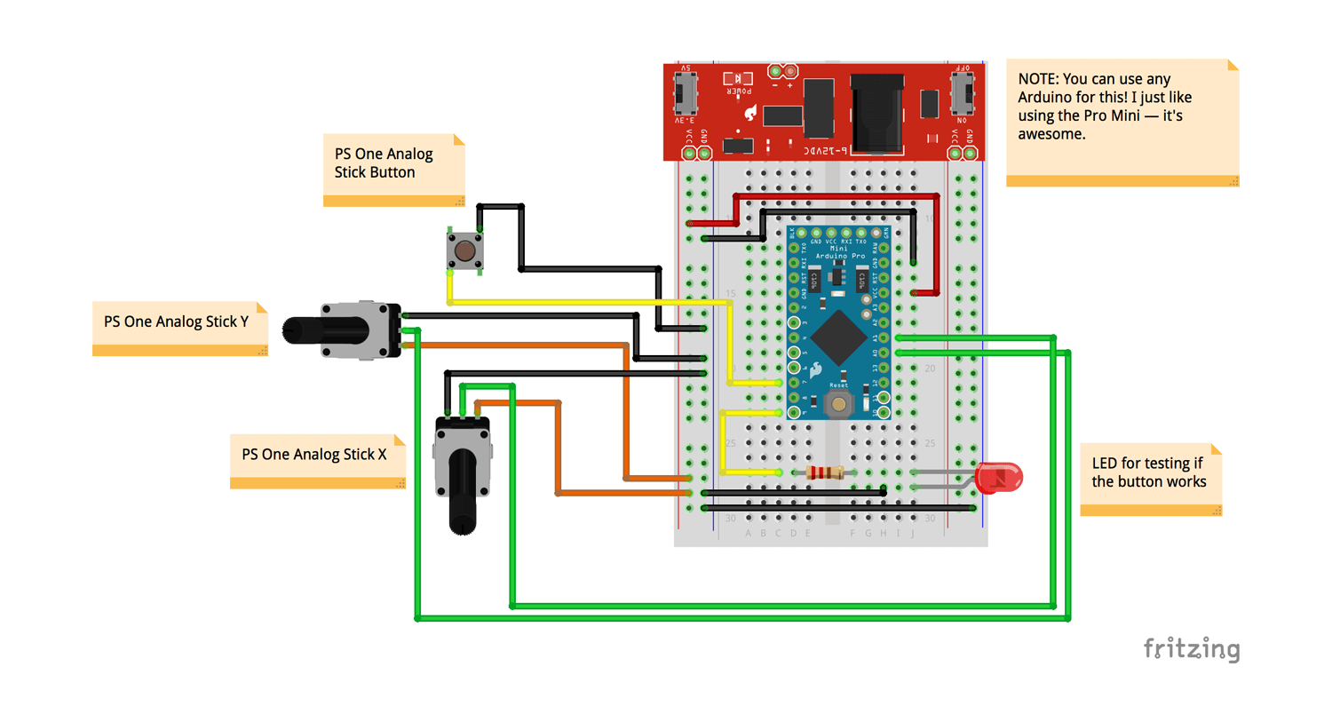 dld mini projects circuit diagram chevy tilt steering column playstation one analog sticks with arduino hackster io