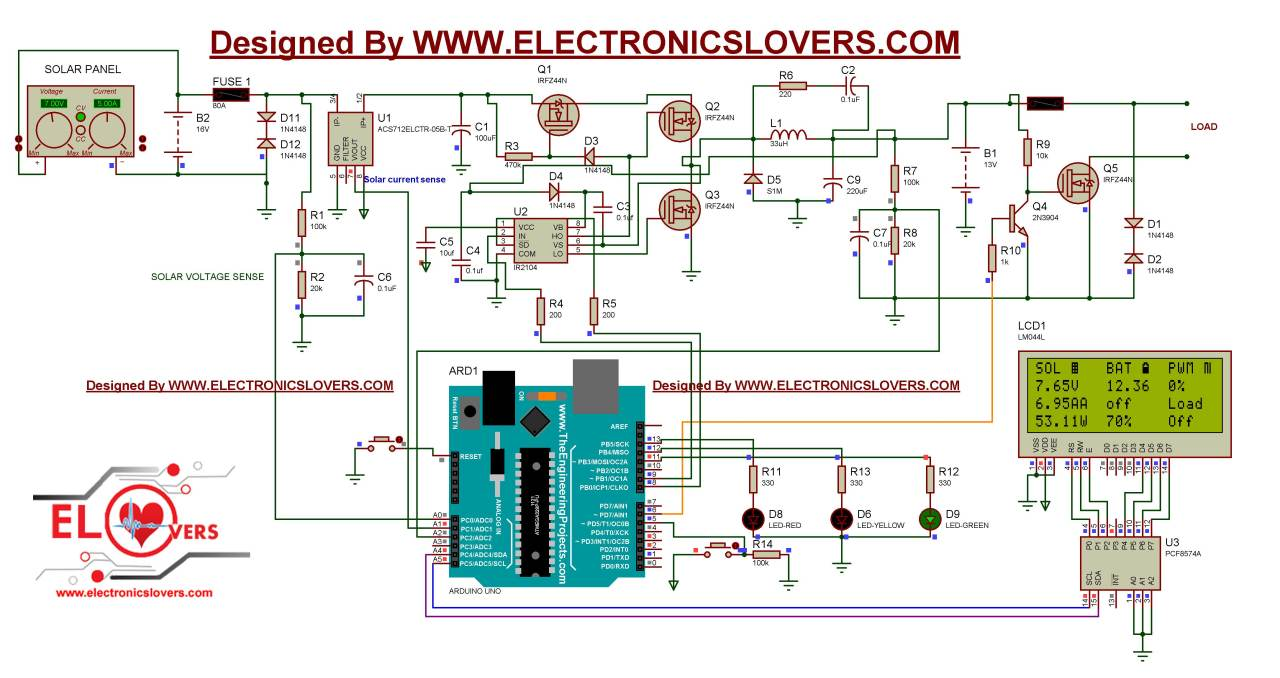 solar controller schematic diagram [ 1280 x 678 Pixel ]
