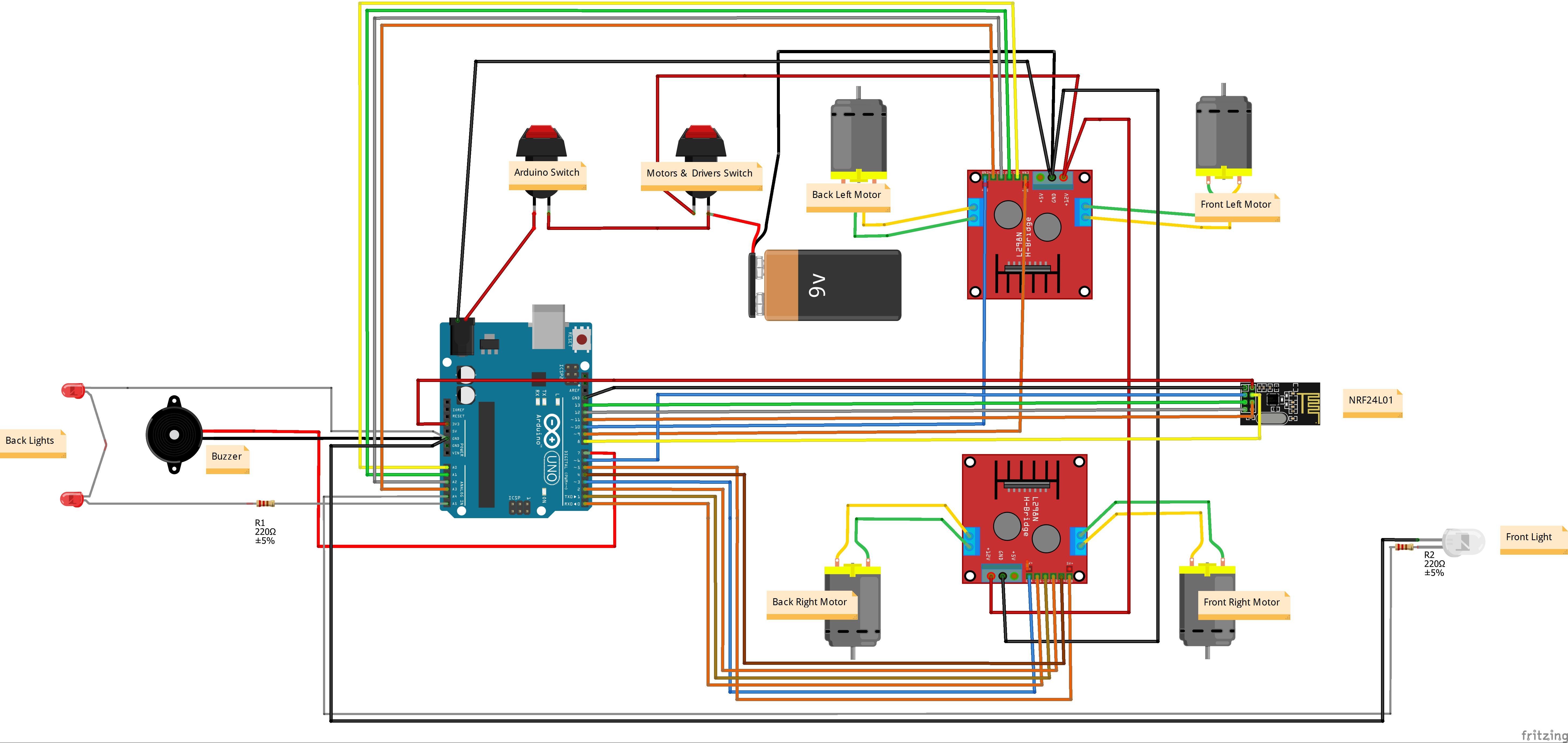 medium resolution of arduino 4wd rc car hackster io rh hackster io electric rc car wiring diagram wired remote