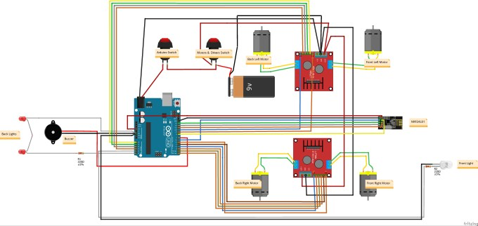 Arduino 4WD RC Car  Hacksterio