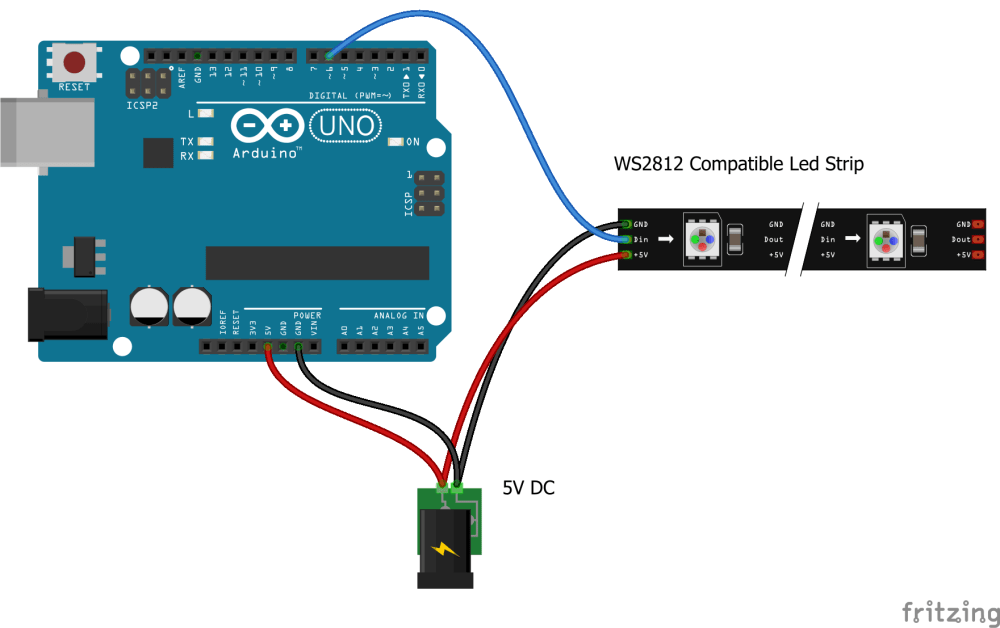 medium resolution of web controlled led animations with raspberry pi and arduino ws2182b arduino wiring diagram