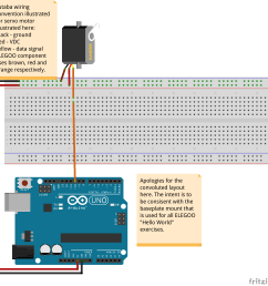 basic layout to connect servo motor to the arduino board [ 1833 x 1848 Pixel ]