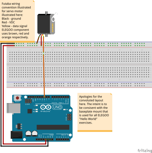 small resolution of basic layout to connect servo motor to the arduino board