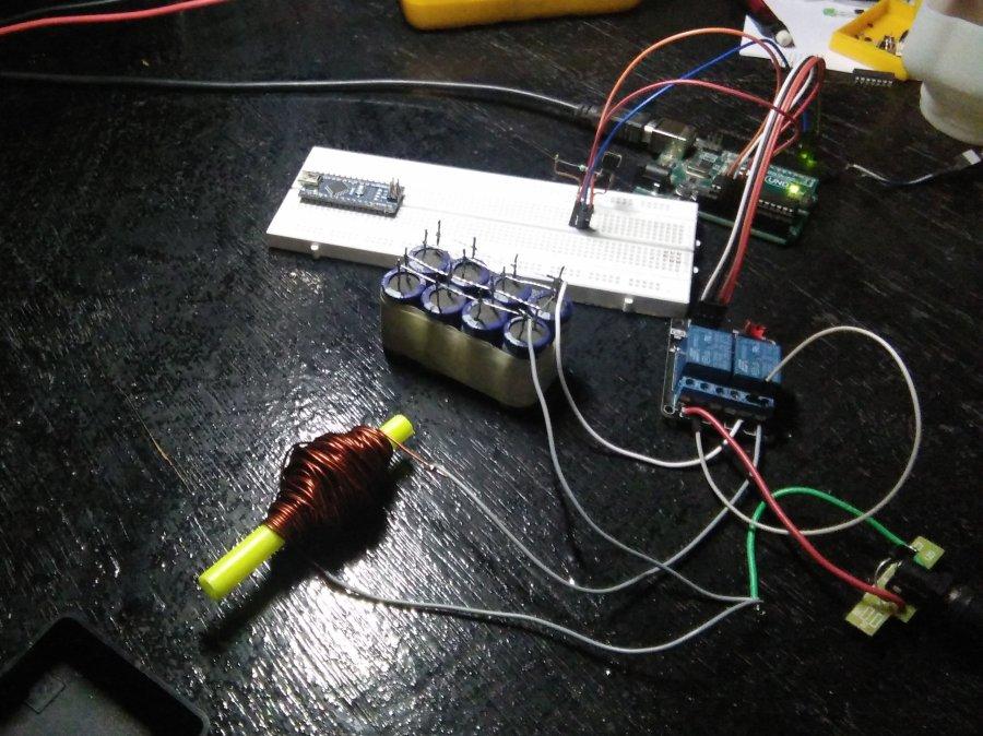 Coil Gun Optical Trigger Circuit All