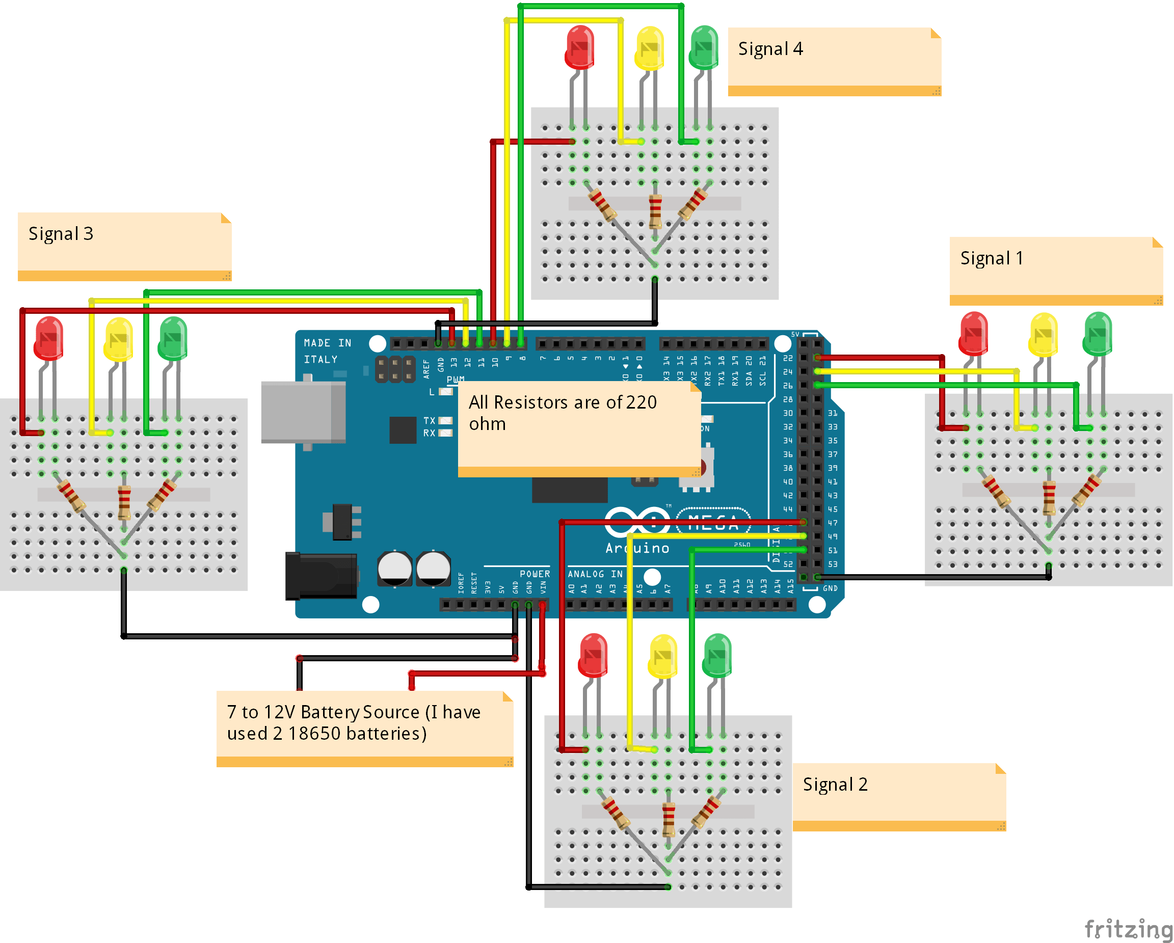 small resolution of how to build an arduino traffic light controller 4 way arduino traffic signal stop light wiring with arduino controller the plan