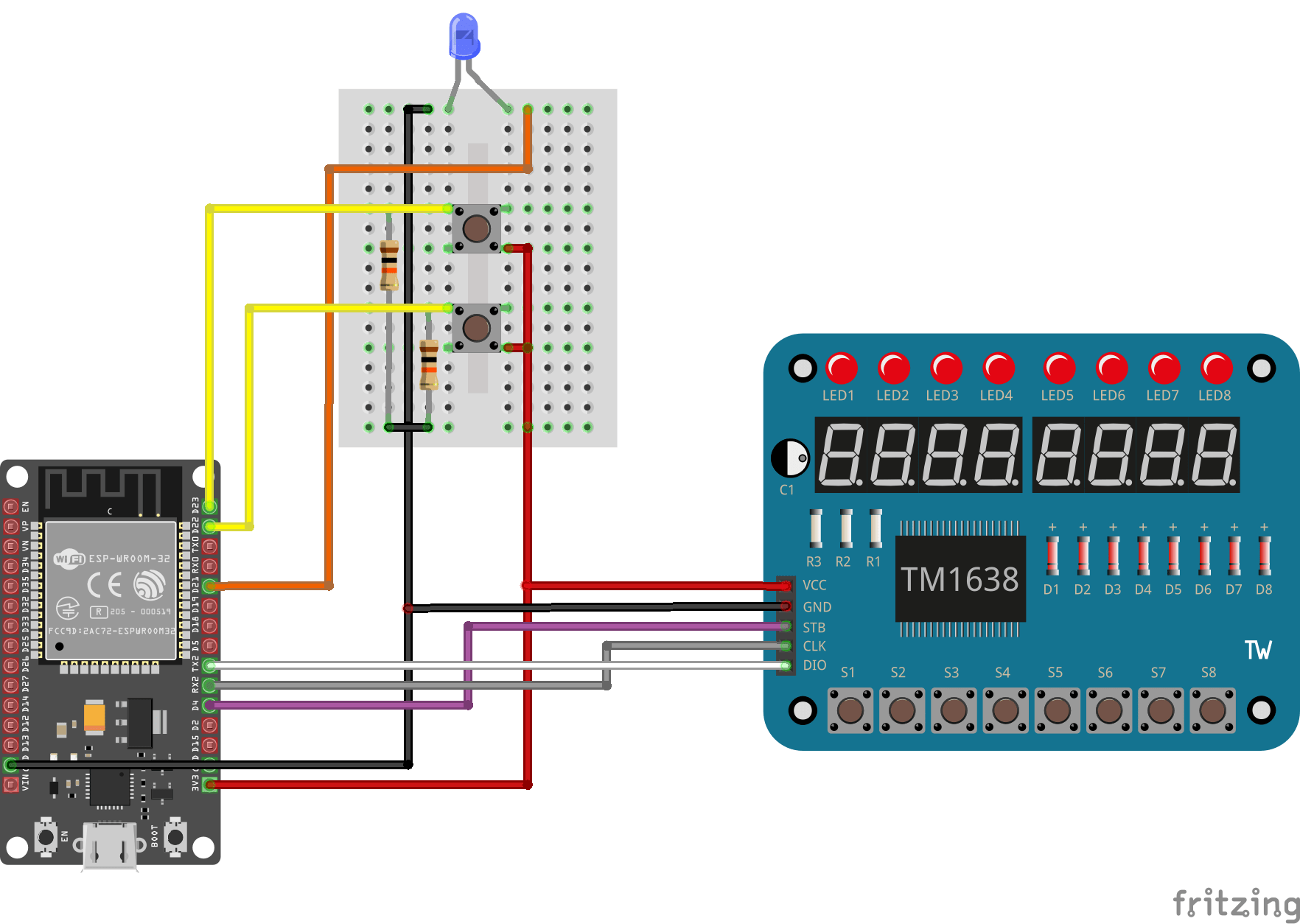hight resolution of the esp in the diagram is not exact and has less pins compared to the board i used but it still works to show how to wiring the curcuit