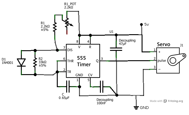 servo tester circuit 555 timer circuits
