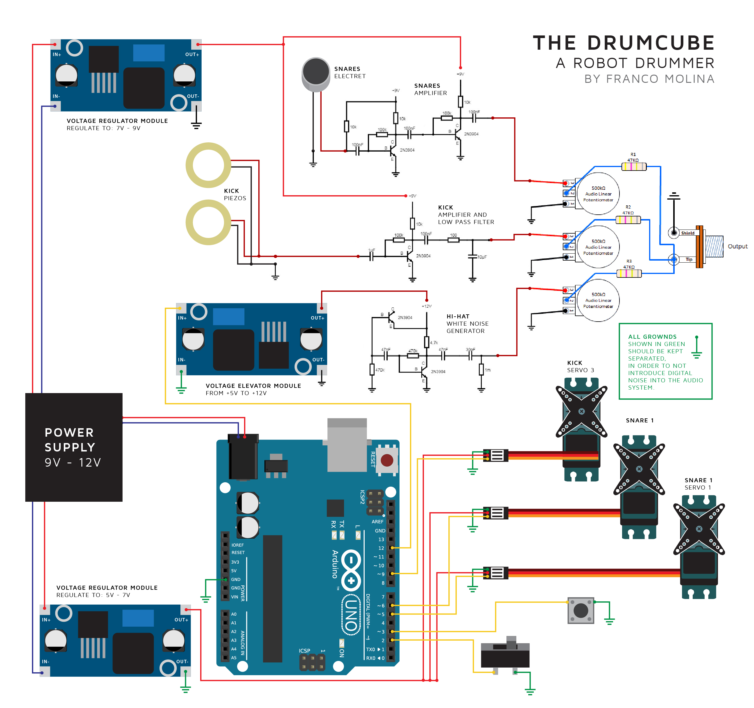 power the electret mic through arduino uno as shown in circuit diagram wiring diagram blog [ 2595 x 2437 Pixel ]