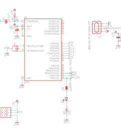 follow this schematic to connect the atmega328p to the hx711 load cell amplifiers and the ft232rl usb to serial uart  [ 1289 x 615 Pixel ]