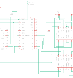 schematic shows connections between the photon the l293ds and the motors [ 1445 x 1061 Pixel ]