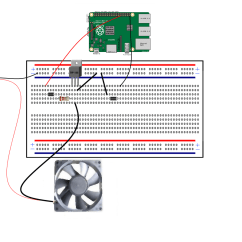 Raspberry Pi 3 Model B Wiring Diagram Auto Rod Controls 3720 Control A 12 Volt Fan With Rasberry And Transistor - Hackster.io