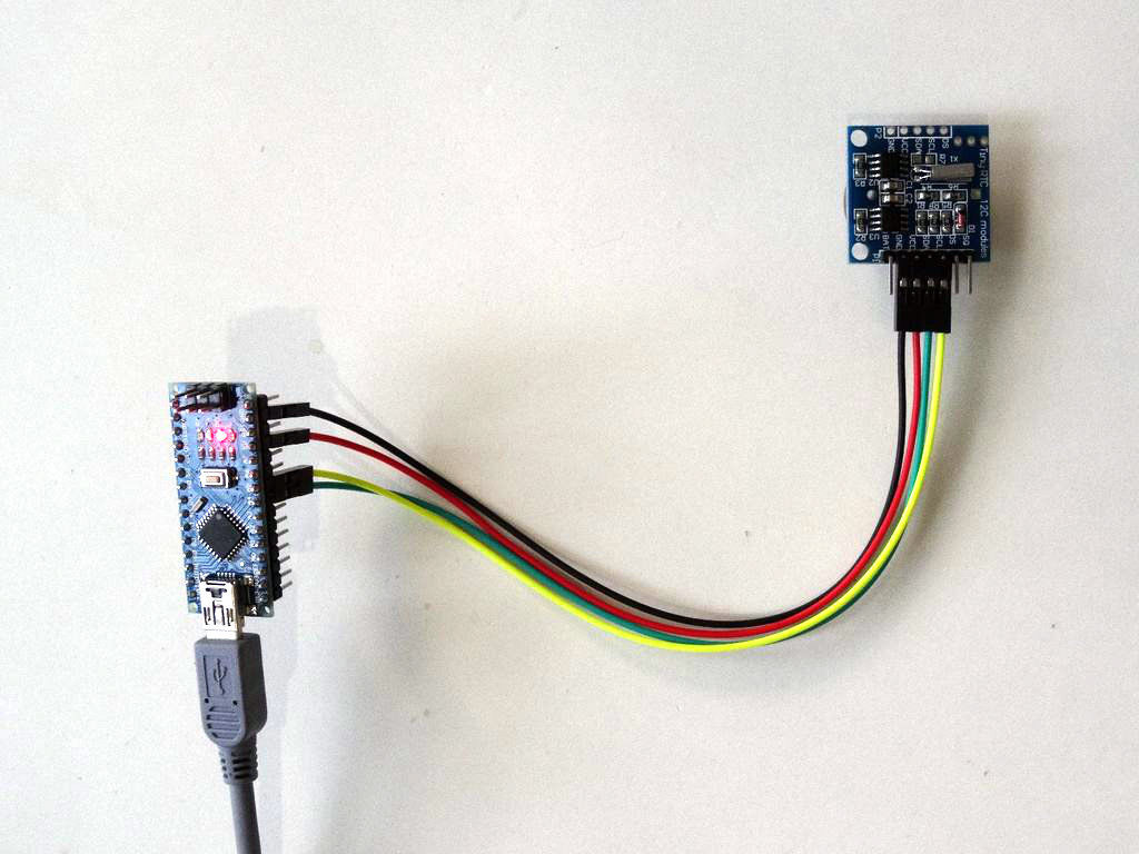 arduino nano ds1307 real time clock rtc with visuino arduino project hub [ 1024 x 768 Pixel ]