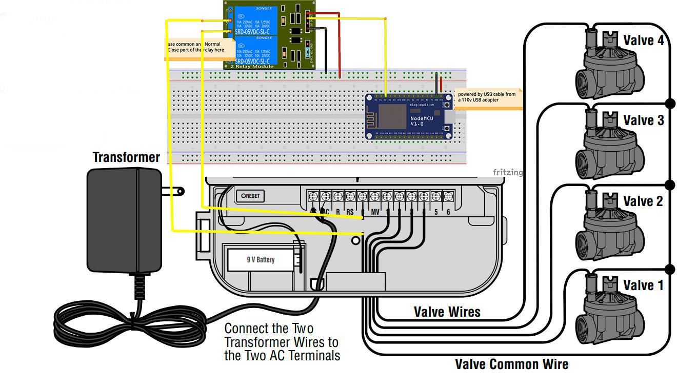 medium resolution of thingspeak and internet sprinkler hackster io hunter 3 speed fan switch wiring diagram hunter original wiring