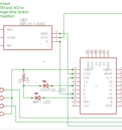 garage door opener huzzah schematic [ 2226 x 1310 Pixel ]