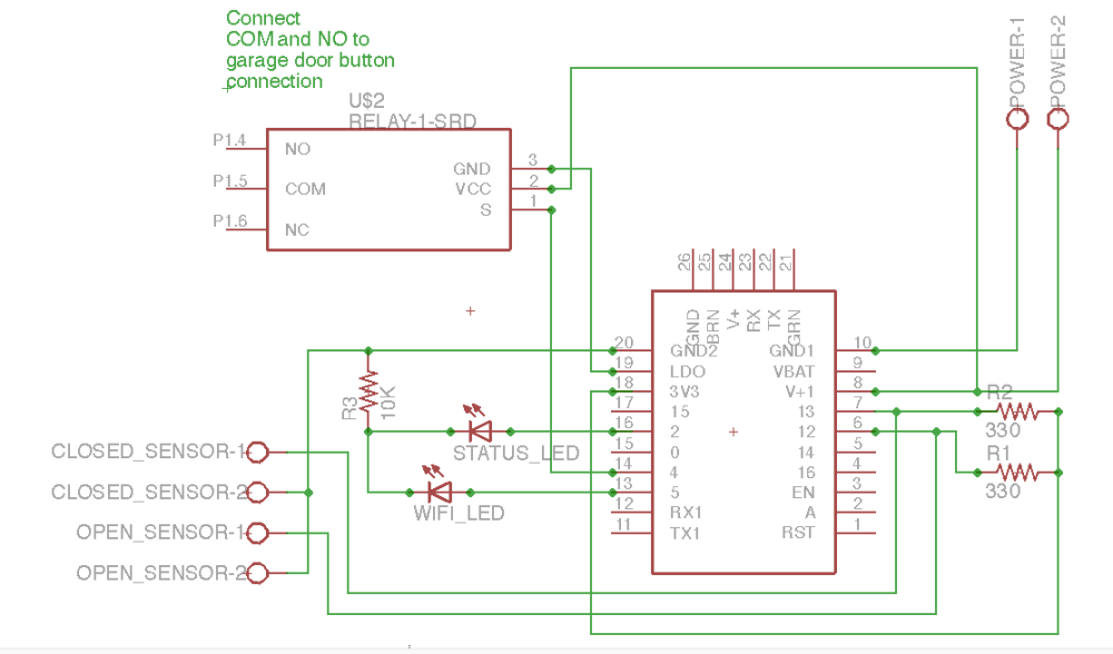 medium resolution of garage door opener huzzah schematic