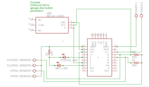 small resolution of garage door opener huzzah schematic