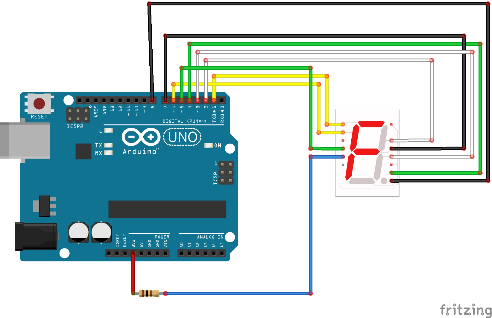 seven segment pin diagram mast rigging snap circuits display hackster io