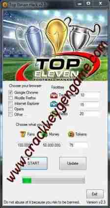 Top Eleven Hack top Eleven tricherillimité Cash, Tokens and Fans