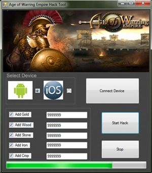 Age Of Warring Empire Hack gold, Unlimited wood, Unlimited stone 2