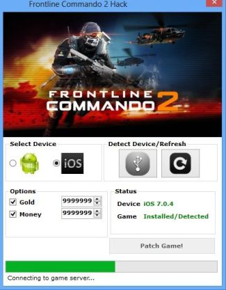 Frontline Commando 2 Hack can add unlimited gold, add unlimited ammo1