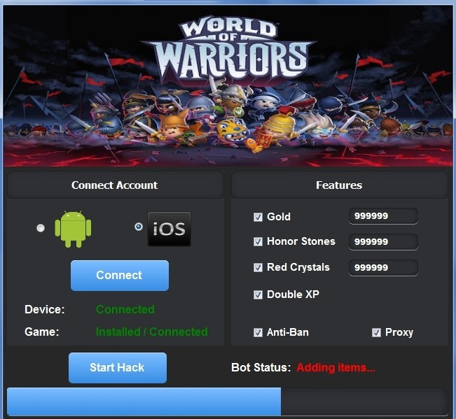 World of Warriors Hack Tool