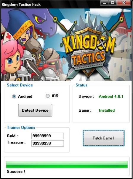 Kingdom Tactics Hack Gold Add Unlimited Treasures