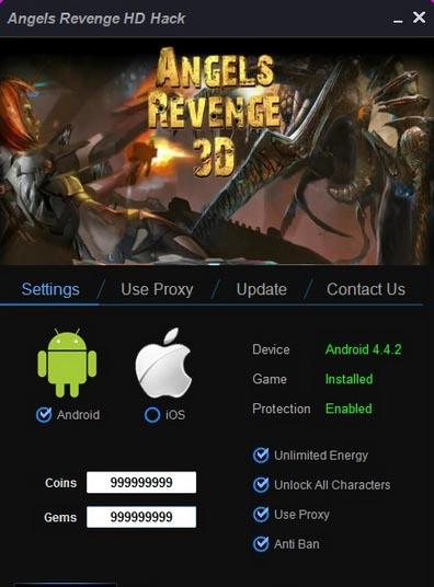 Angels Revenge 3D Cheat Tool