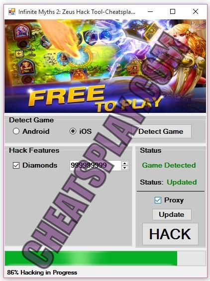 Infinite Myths 2 Zeus Hack Tool