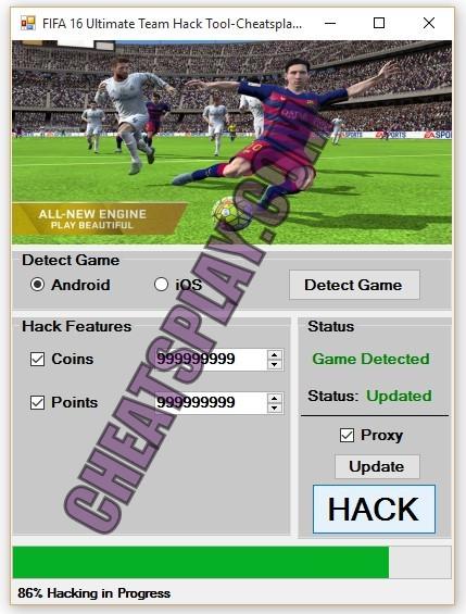 FIFA 16 Ultimate Team Hack Tool
