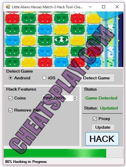Little Aliens Heroes Match-3 Hack Tool