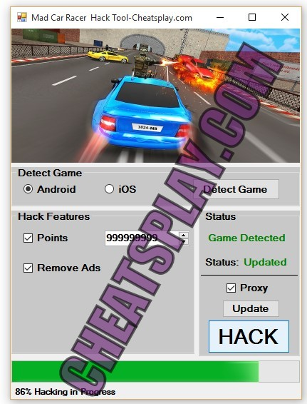 Mad Car Racer Hack Tool