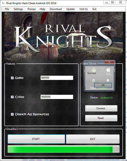 Rival Knights hack free gems & coins